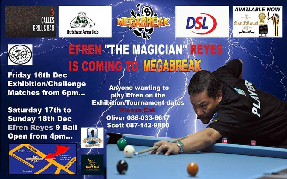 Efren Reyes at Megabreak Pattaya